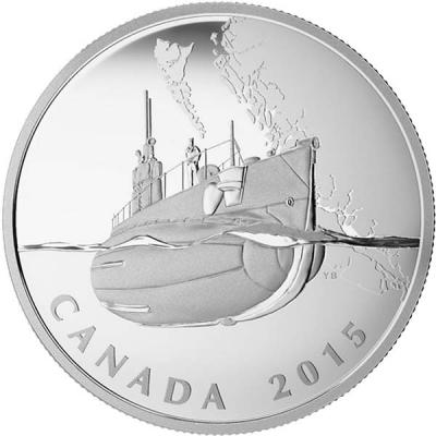 Канада 20 долларов 2015 Первая мировая «Первая канадская подводная лодка».jpg