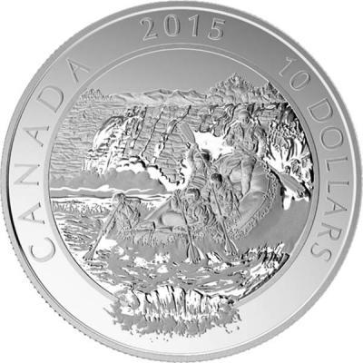 Канада 10 долларов 2015 год «Рафтинг».jpg