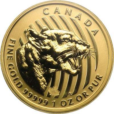 Канада 200 долларов 2015 года «Рычащая пума».jpg
