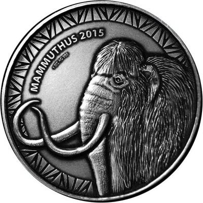 Буркино Фасо 1000 франков 2015  Мама мамонта (Животные в доисторические времена).jpg