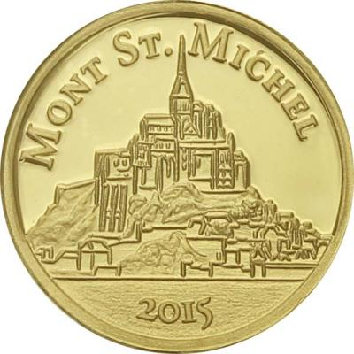 Конго 100 франков, 0,5 гр.  «Мон-Сен-Мишель».jpg