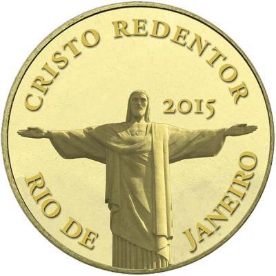 Конго 100 франков, 0,5 гр.  «Статуя Христа-Искупителя».jpg