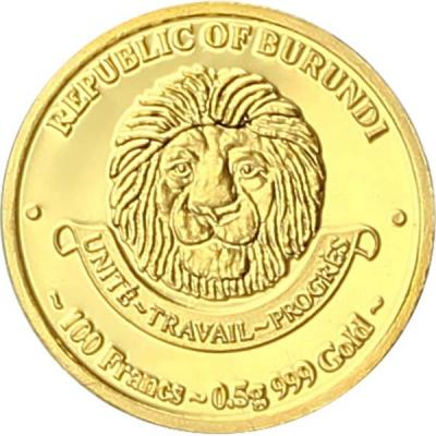 Бурунди 100 франков, 0,5 гр. (аверс).jpg