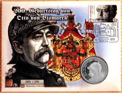 Того 100 франков 2015 год  «Бисмарк» (карточка).jpg