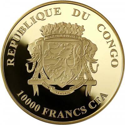 Конго 10 000 франков, золото (аверс).jpg