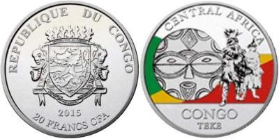 Конго 5 х 20 франков «Ритуальные маски регионов мира» (Конго).jpg