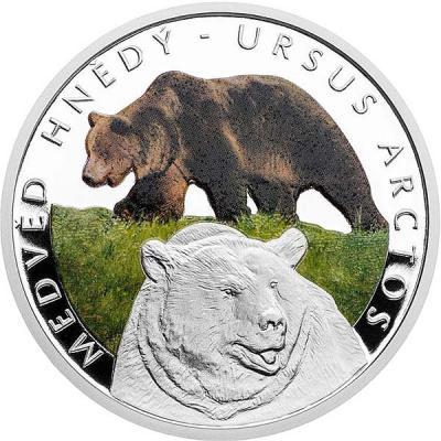 Ниуэ  1 доллар 2016 серия «Эта опасная природа» (Бурый медведь).jpg