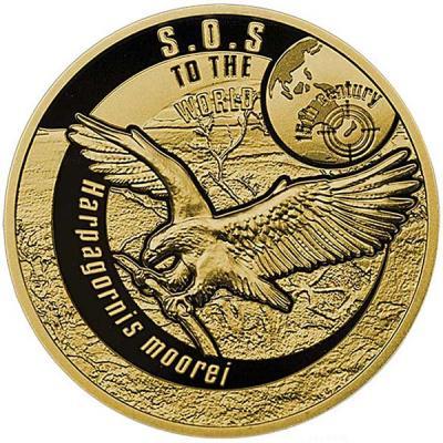 Ниуэ 50 долларов 2016 - вымершие виды - Орёл Хааста.jpg