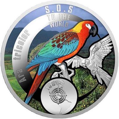 Ниуэ 1 доллар 2016 - вымершие виды - Кубинский ара.jpg