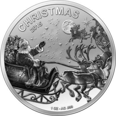 Мали 1000 франков  2015 года «С Рождеством!».jpg