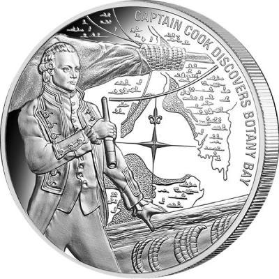 Острова Кука 1 доллар 2016 года. 25 гр «Капитан Кук».jpg