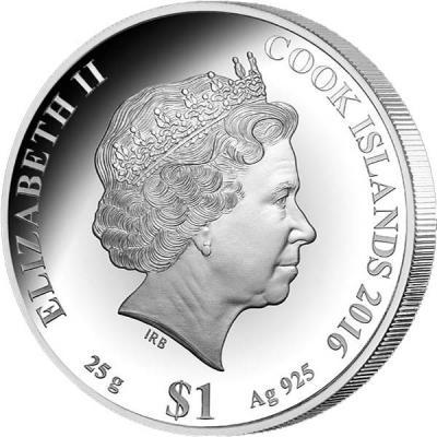 Острова Кука 1 доллар 2016 года. 25 гр (аверс).jpg