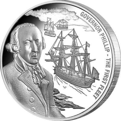 Острова Кука 1 доллар 2016 года. 25 гр «Артур Филлип».jpg