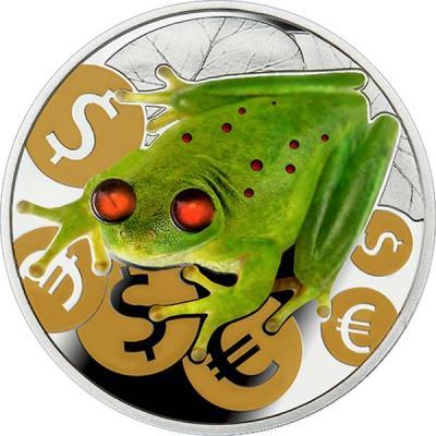Ниуэ 2 доллара  2015 года «Денежная лягушка».jpg