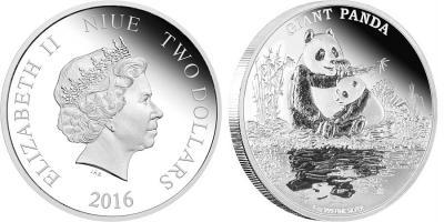 Ниуэ 2 доллара 2016 «Большая панда».jpg