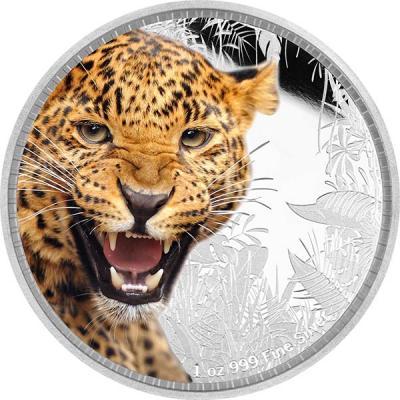 остров Ниуэ 2 доллара 2016 года «Ягуар».jpg