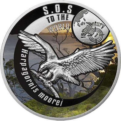 Ниуэ 1 доллар 2016 - вымершие виды - Орёл Хааста.jpg