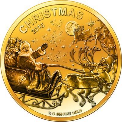 Мали 100 франков  2015 года «С Рождеством!».jpg