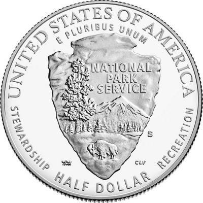 США 50 центов 2016  год. Служба национальных парков - 100 лет (реверс).jpg