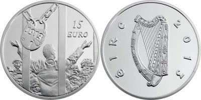 26 августа 1913 года начался Дублинский локаут (Ireland-2013-15-euro).jpg