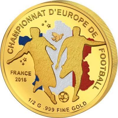 Мали 100 Francs золото 2016 (Чемпионат Европы по футболу 2016  ).jpg