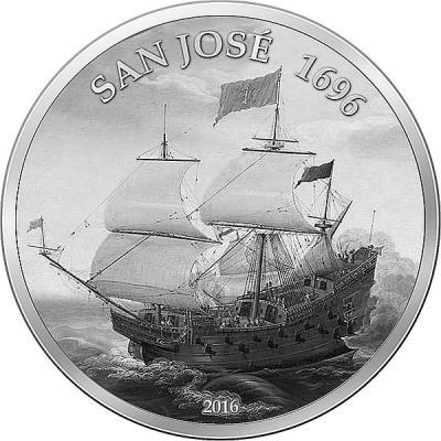 Мали 1000 Francs золото 2016 Сан-Хосе (галеон).jpg