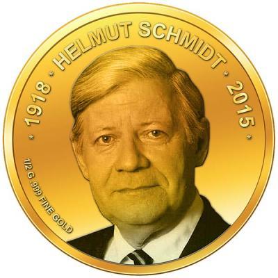 Конго 100 франков золото 2015 Гельмут Шмидт.jpg