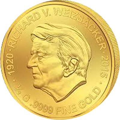 Мали 100 Francs золото 2016 (Рихард фон Вайцзеккер).jpg