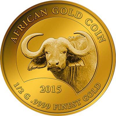 Нигер 100 франков 2015 золото (Буйвол).jpg