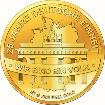 Чад 3000 франков (25 лет Объединение Германии).jpg