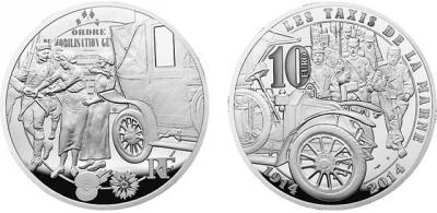5 - 12 сентября 1914 года произошло Марнское сражение (2014-France-Ambulance-silver-10-euro-coin0.jpg