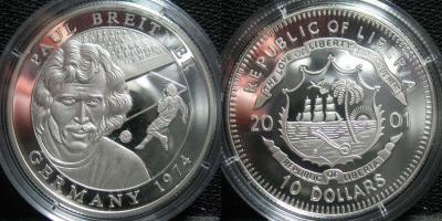 5 сентября 1951 года родился -  Пауль Брайтнер(Либерия 2001, 10 долларов).jpg