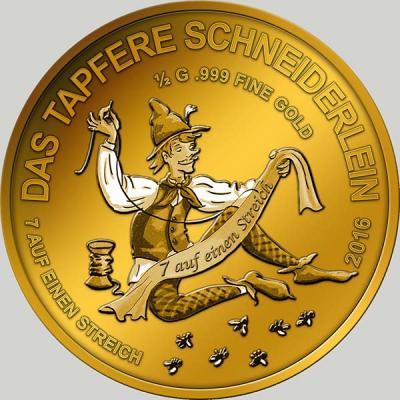 Чад 3000 франков 2016 год Храбрый портняжка.jpg