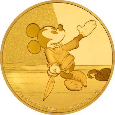 Ниуэ «Микки Маус сквозь века» (золото).jpg