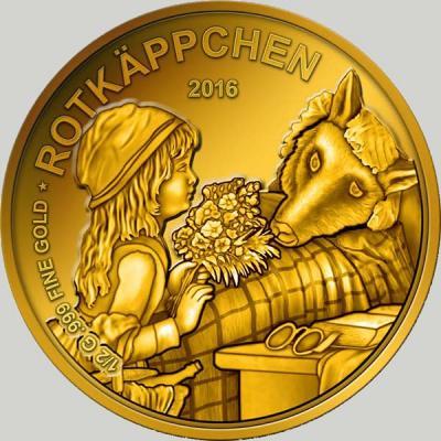 Чад 3000 франков 2016 год Красная Шапочка.jpg