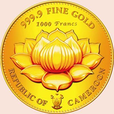 Республика Камерун 500 и 1000 франков 2016 Богиня Лакшми (аверс).jpg