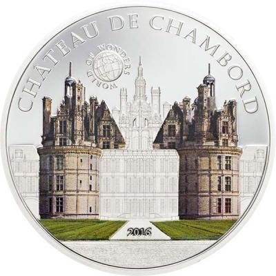 Палау 5 долларов 2016 - Замок Шамбор (Chambord).jpg