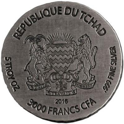 Чад 3000 франков КФА 2016 «Тутанхамон» (аверс).jpg