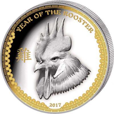Палау 5 долларов 2017 года «Год Петуха» (3).jpg