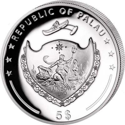Палау 5 долларов 2017 года «Год Петуха» (аверс).jpg