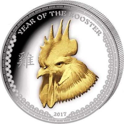 Палау 5 долларов 2017 года «Год Петуха» (2).jpg
