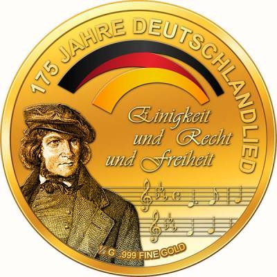 Чад 3000 франков золото (175 лет Германия гимн).jpg
