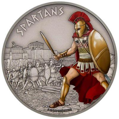 остров Ниуэ 2 доллара 2016 года «Спартанцы».jpg