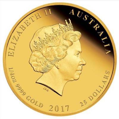 Австралия 25 долларов 2017 «1-4 OZ 9999 GOLD»  (аверс).jpg