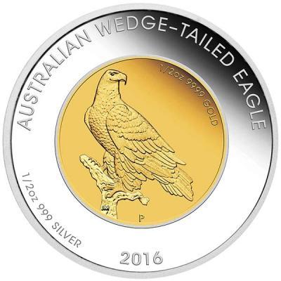 Австралия 50 долларов 2016 года «Клин-белохвост» (реверс).jpg