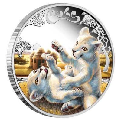 Тувалу 50 центов «Детеныши белого льва».jpg
