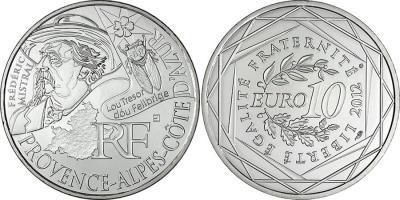8 сентября 1830 года родился — Фредерик Мистраль(france-2012-10-euro).jpg