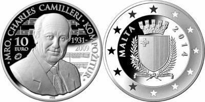 7 сентября 1931 года родился - Чарльз Камиллери (Malta-2014-10-50-Euro).jpg