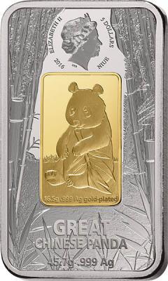 Ниуэ 5 долларов 2016 - Большая панда (аверс).jpg