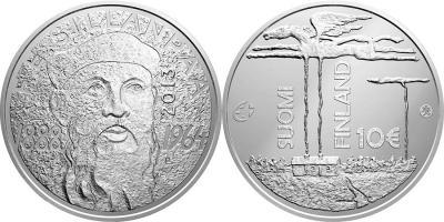 16 сентября 1888 года родился — Франс Эмиль Силланпяя(finland-2013-10-euro).jpg
